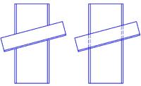 Рис. 8. Изменение линий контура профилей в местах перекрытия