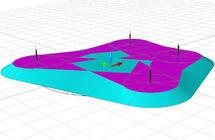 Рис. 7. Контур сечения на заданной высоте в режиме 3D
