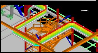 Просмотр раскладки кабелей в 3D-виде