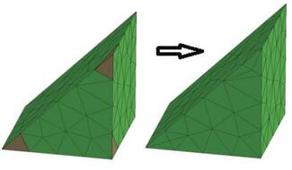 ProCAST/Visual-Mesh. Пример использования инструмента Multi Corner Tria