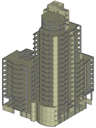Расчетная схема здания