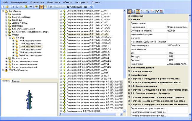 База данных оборудования и материалов