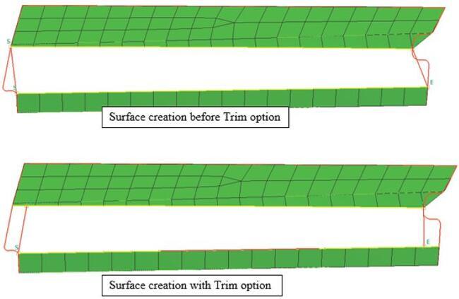 ProCAST/Visual-Mesh. Операция Trim Curve