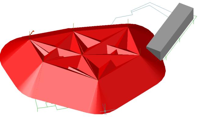 Зона молниезащиты в 3D-виде
