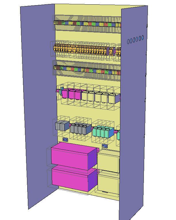 Трехмерная компоновка шкафа