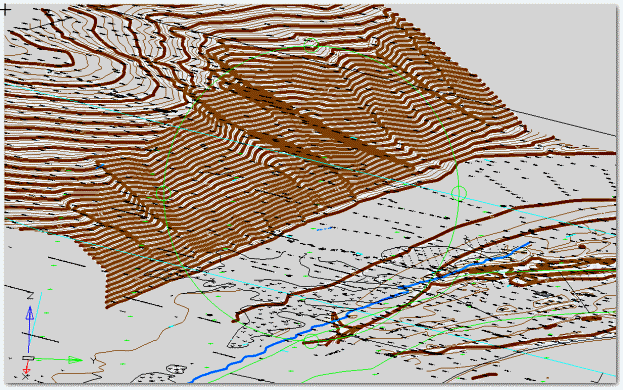Трехмерная визуализация модели рельефа