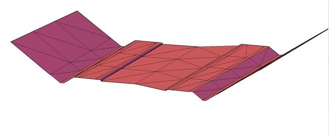 Трехмерная визуализация модели поперечного сечения