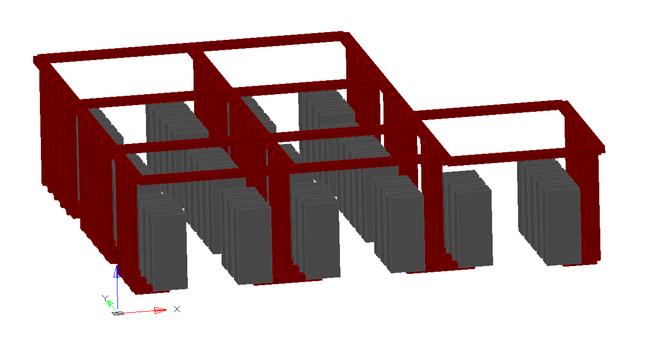 nanoCAD СКС. 3D-модель аппаратной