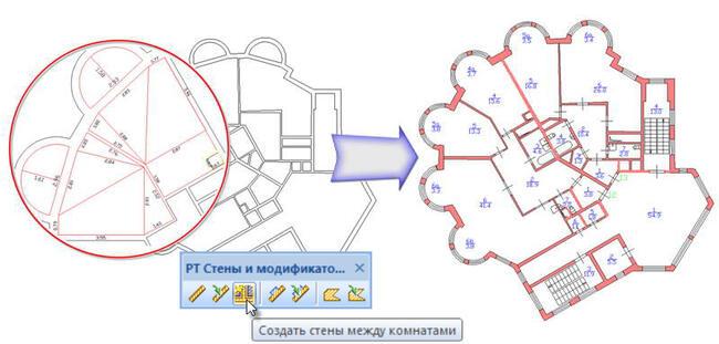 Основные этапы формирования плана с помощью составных контуров