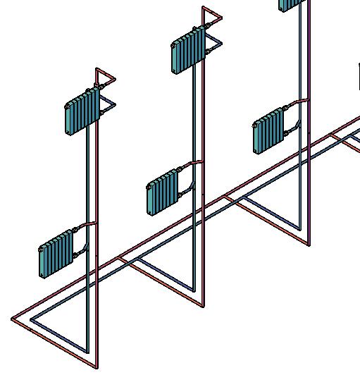 Фрагмент схемы системы отопления