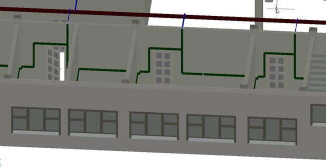 Рис. 10. Project StudioCS СКС. Фрагмент 3D-вида плана этажа