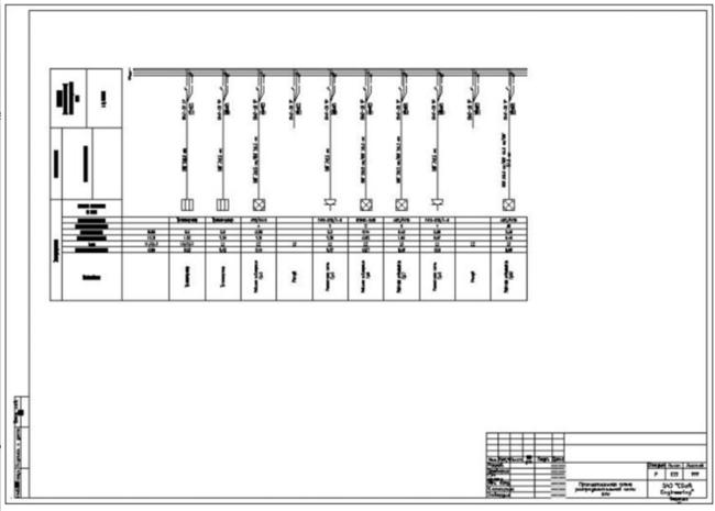 Принципиальная схема сети